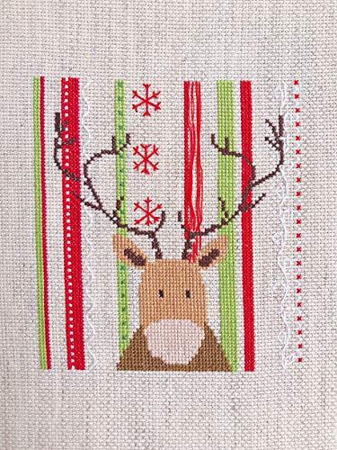 Amazon Com Christmas Reindeer Deer Snowflake Finished Cross Stitch Xmas Gift Ideas Home Decor Handmade
