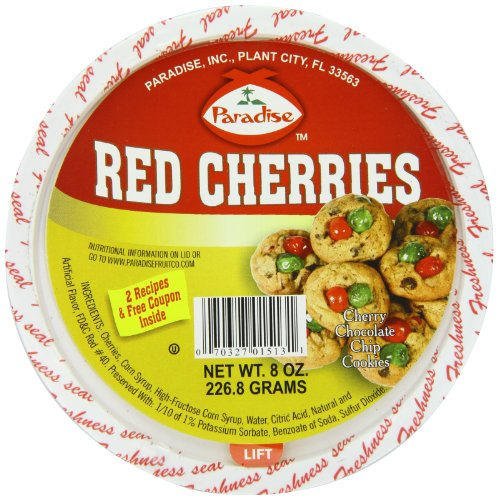 (Paradise Red Cherries, 8 Ounce)