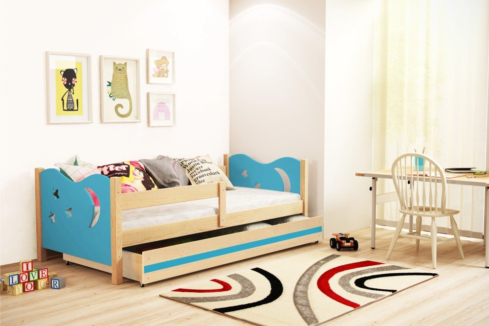 Interbeds Cama Individual Noel, 160x80, somier y cholchón de Espuma Gratis! Color Pino, (Azul): Amazon.es: Hogar