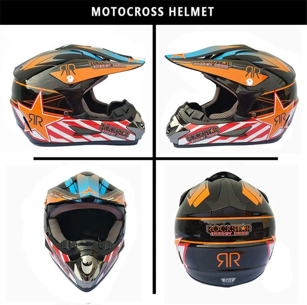 gafas completas para road o motocross Casco de motocross para hombre y mujer con protecci/ón de manos para motocicleta con m/áscaras Yase Enduro