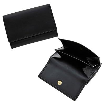 94aeb61a0409 Amazon   小型三つ折り財布 カウハイド 牛革 仕切りつき小銭入れ BECKER ...
