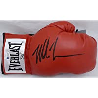 $129 » Mike Tyson Autographed Red Everlast Boxing Glove RH Signed In Black Beckett BAS Stock #182689