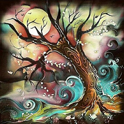 - Pandaie Full Drill Dream Tree 5D Embroidery Paintings Rhinestone Pasted DIY Diamond Painting Cross Stitch