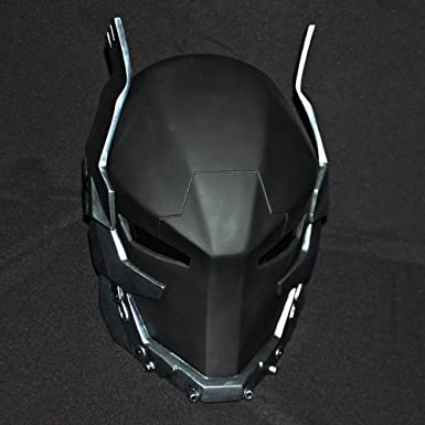 1: 1 máscara de disfraz de Halloween cosplay rojo capucha Batman Arkham Knight casco MA202