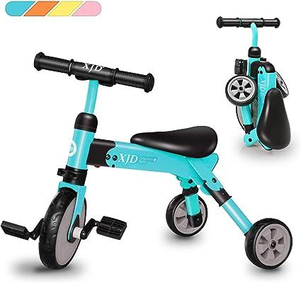 Amazon.com: XJD - Triciclo 2 en 1 para niños de 2 años de ...