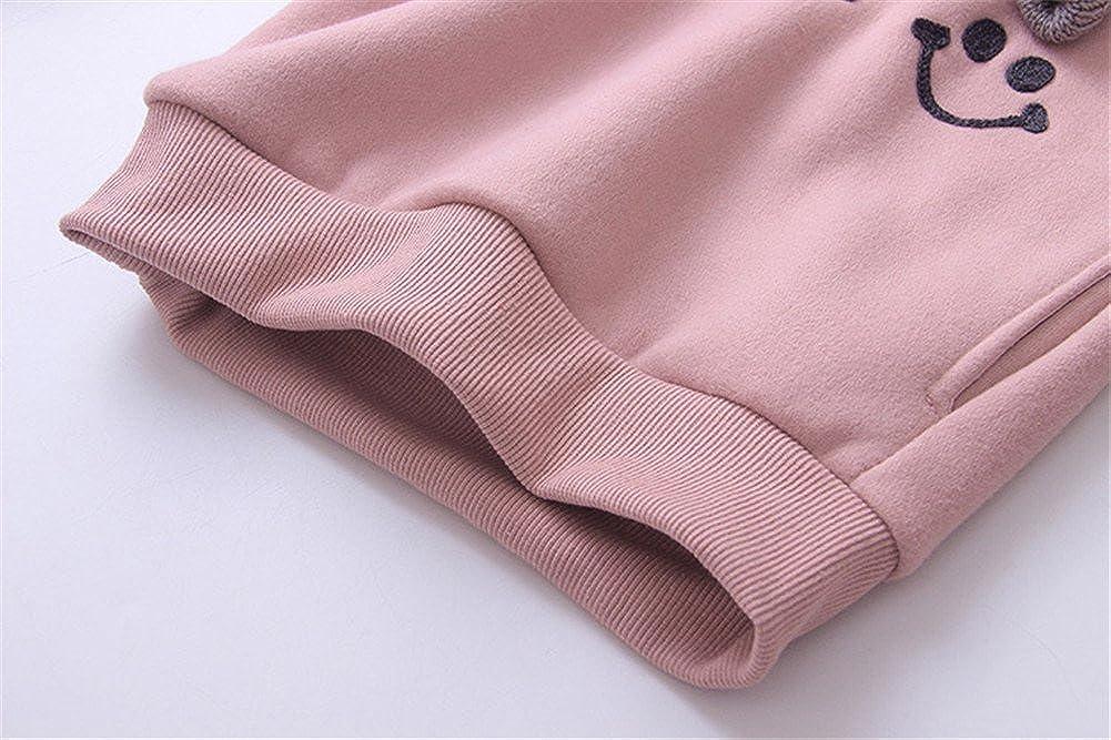 Mud Kingdom Girls Fleece Crew Sweatshirt Long Sleeve Cartoon Pullover