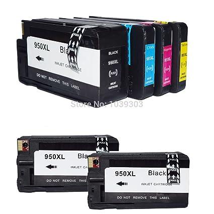 caidi 6 x HP 950 X L 951 X L Cartuchos de tinta compatible con HP ...