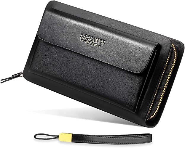 Id Bag Holder Card Simple Wallet Clutch Purse Leather Pu Men Women Unisex Fashio