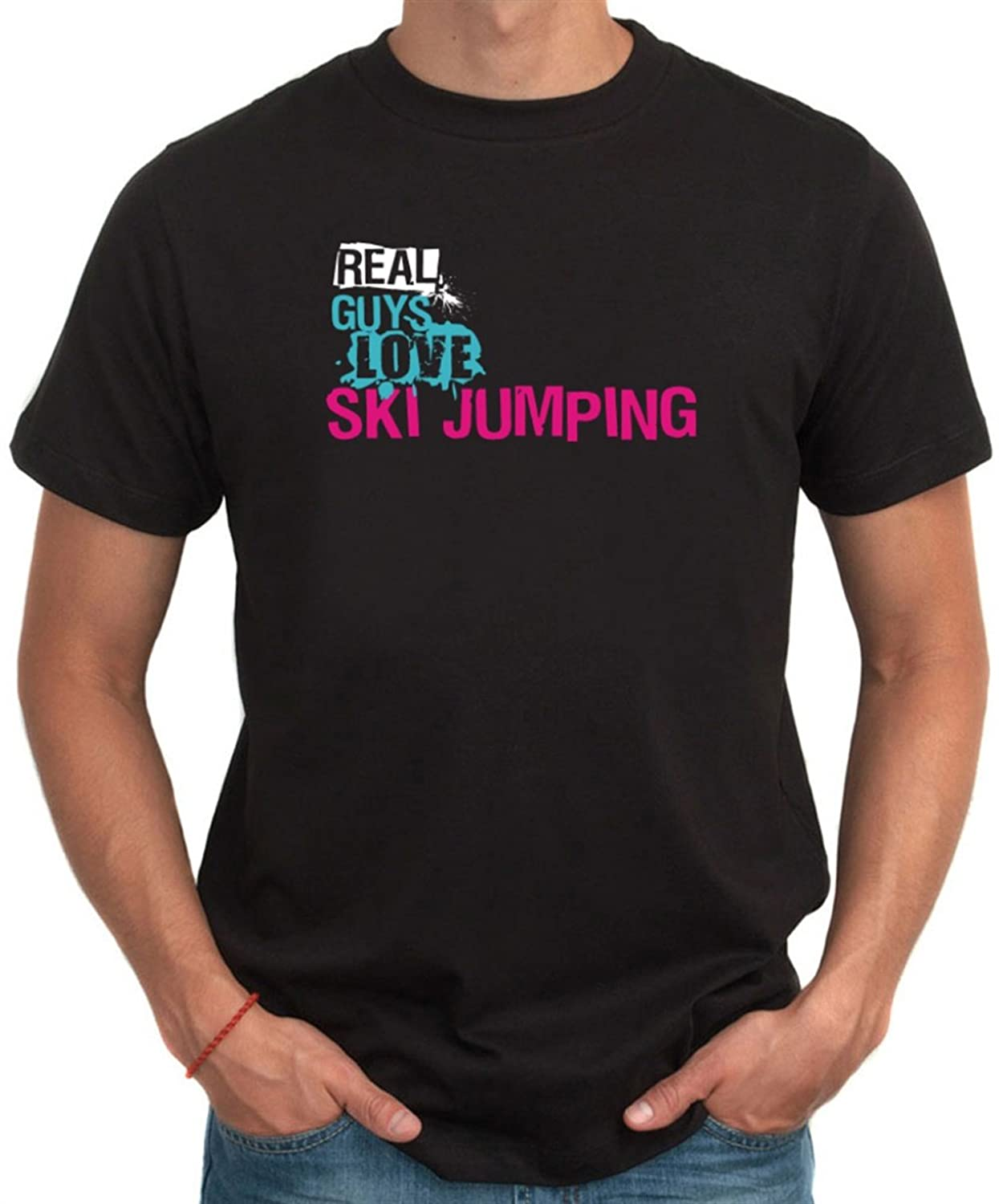Real guys love Ski Jumping T-Shirt