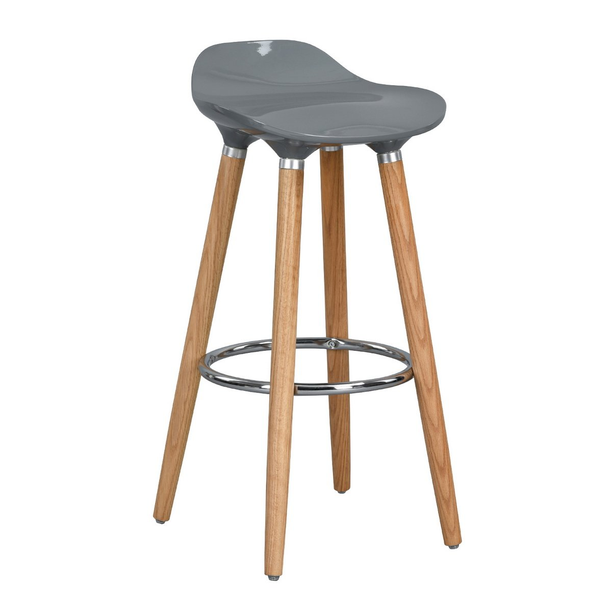 Homycasa Set of 2 Dining Chair, Barstool, Bar Chairs without adjustable, Wooden Bar Stools, Grey Homy Casa Inc.