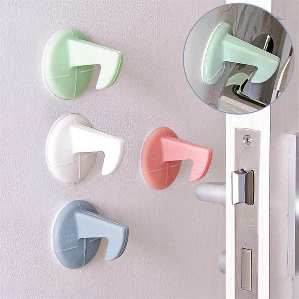 Self Adhesive Silicone Anti Collision Crash Doorknob House Door Stopper Wall Protectors Pad Door Handle Lock Silencer Protective
