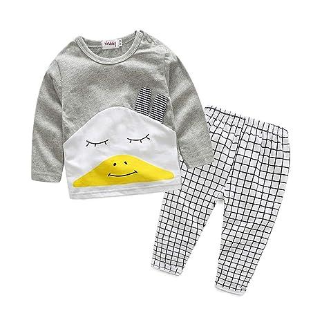 feiXIANG Ropa de bebé niña recién Nacida niño de Dibujos Animados Camiseta Top + Pantalones a