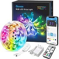 Govee LED Strip 5m, RGB LED strip, bestuurbaar via app en afstandsbediening, met muziekmodus, voor thuis, slaapkamer…