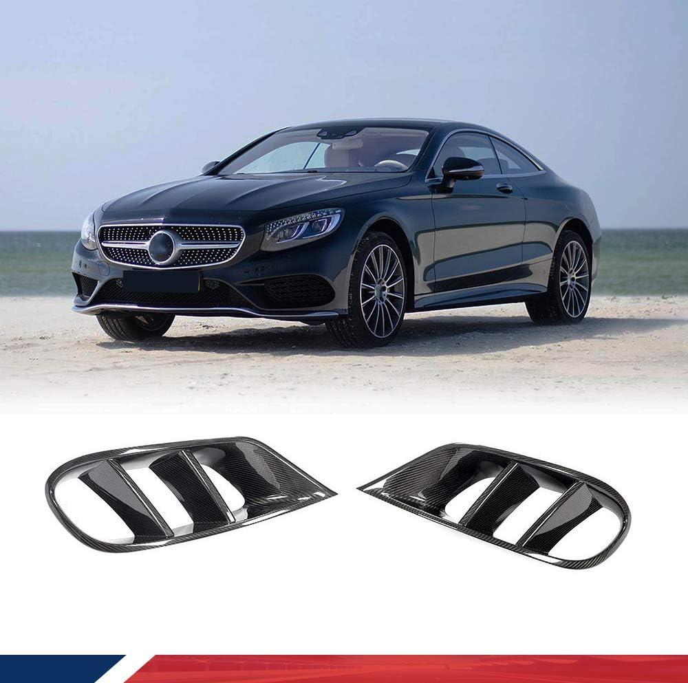 Amazon Com Jc Sportline W205 Cf Fog Light Cover Fits For Mercedes Benz S Class S500 S550 Coupe 2 Door 2014 2017 Carbon Fiber Fog Lamp Vent Trim Front Bumper Spoiler Splitters Automotive
