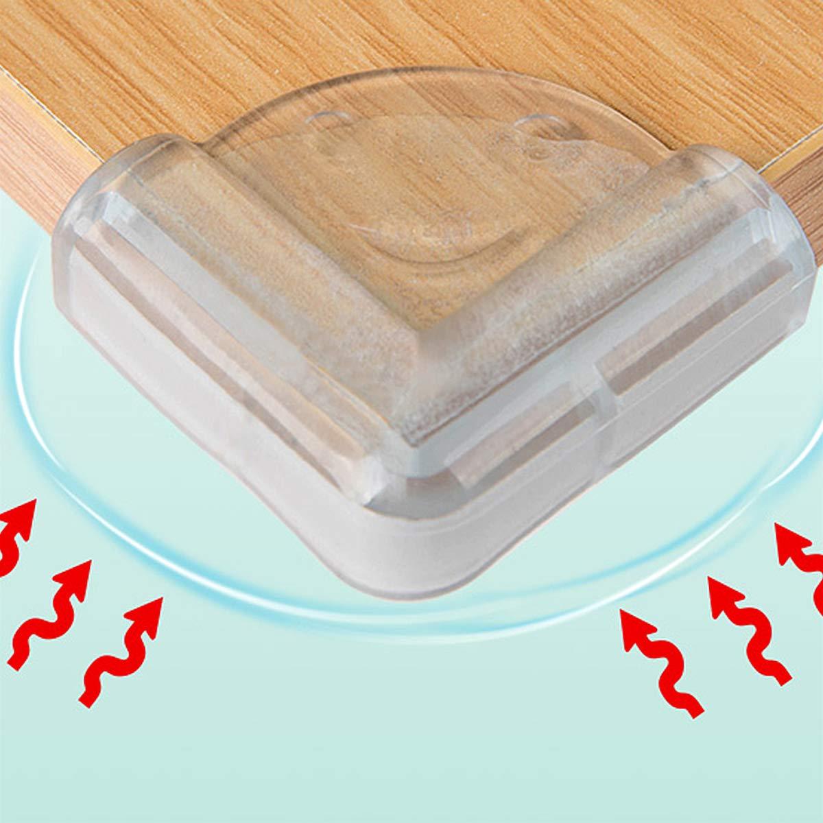 NATUCE Protege Coin de Table Protecteurs Dangles,Transparent Protection Coin de Meubles avec ruban adh/ésif Pour Enfant B/éb/é,20pcs