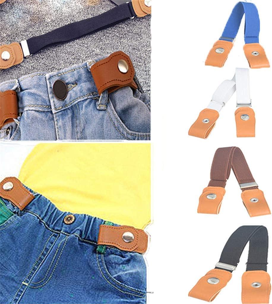 Ansenesna Ceinture Sans Boucle /Élastique Confortable Jeans Pantalons De Taille Invisible R/églable pour Gar/çon fille enfant