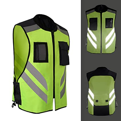 Per Chalecos de Seguridad Reflectantes de Alta Visibilidad para Moto Bicicleta Chaquetas Moto para Hombre y