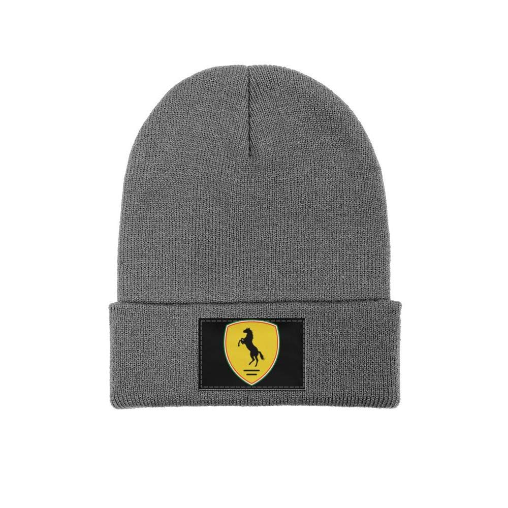 Wool Beanie Cap Knit Cap Fine Knit Knitting Beanie HatsStretchy /& Soft Men Ferrari-Logo