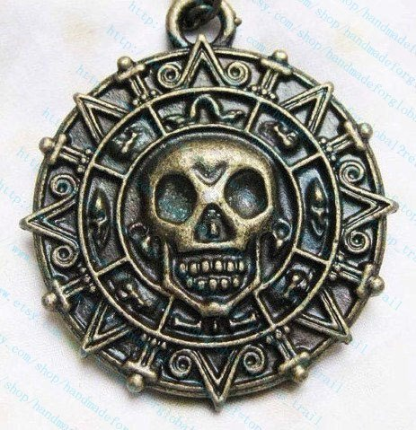 Personalized, Antiqued Brass, Pirates of the Caribbean Aztec Gold (Aztec Halloween Costume)