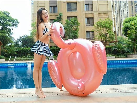 WEGCJU Flotador Piscina Gigante Flamenco Hinchable Colchonetas ...