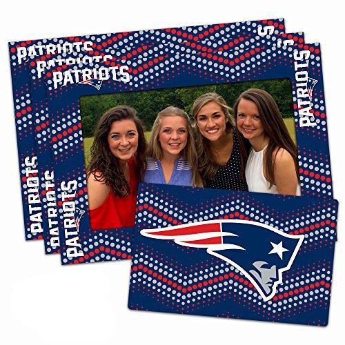 Worthy Promo NFL New England Patriots Magnetic Frame & Bonus Magnet, 3 Pack, Blue, 4