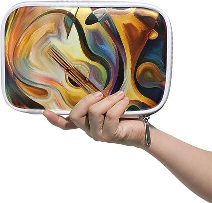 FANTAZIO - Estuche para lápices de pintura al óleo abstracto de gran capacidad, bolsa de maquillaje para estudiantes, papelería, regalo perfecto para estudiantes: Amazon.es: Oficina y papelería