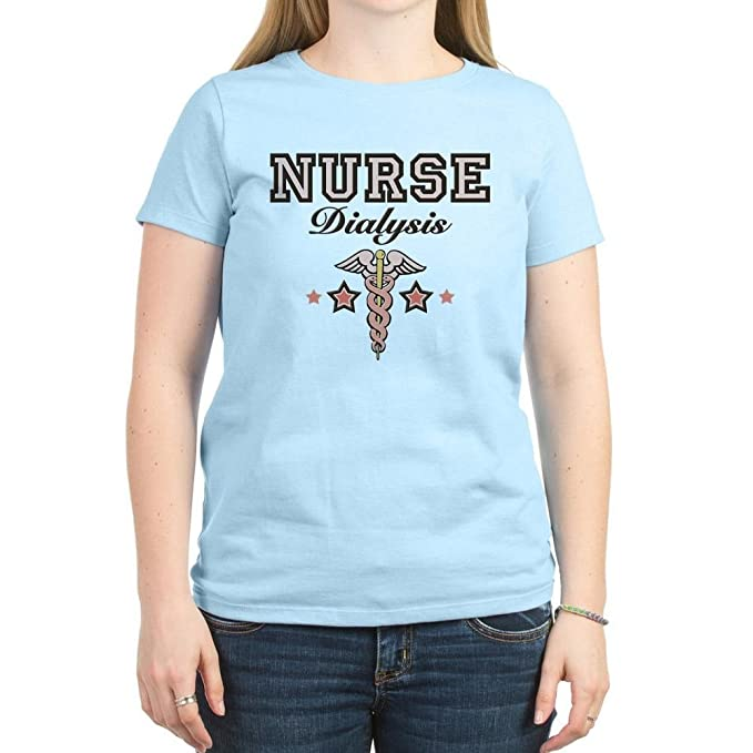 34da118974c861 Amazon.com  CafePress - Dialysis Nurse Caduceus Women s Light T-Shirt -  Womens Cotton T-Shirt