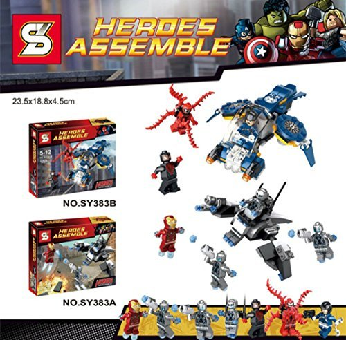 NW 2pcs/lot Building Blocks Super Heroes Avengers Ultron Iron Man Hulk Buster Minifigures Spider Man Bricks Action Mini Figures Toys(Without Original Box)