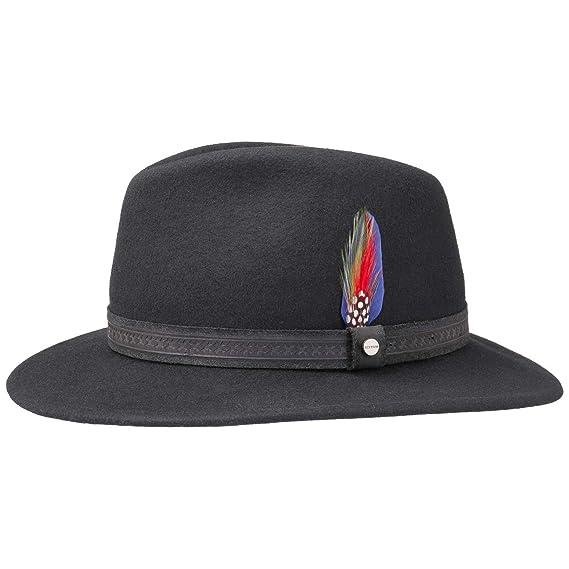 2028458bd87 Stetson Marlon Traveller Wool Felt Hat  Amazon.co.uk  Clothing
