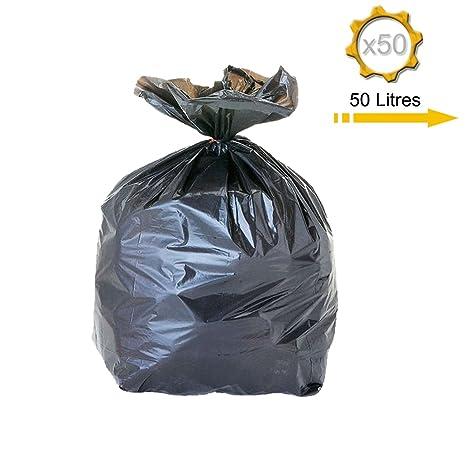 Bolsas de basura de 50 litros, 50 unidades: Amazon.es ...