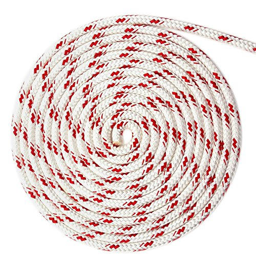 New England Ropes 40' of 3/8 (10mm) Sta-Set White ()