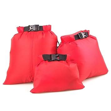 Un Paquete con 3pcs Bolsas Impermeables para Deportes Acuáticos Bolsas a Prueba de Agua (Brillante Naranja)