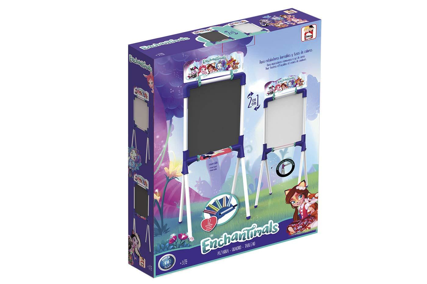 Chicos - Pizarra Enchantimals para rotuladores borrables y tizas de colores (Fábrica de Juguetes 53038)
