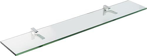 Spancraft Glass Cardinal Glass Shelf, Chrome, 4.75 x 18