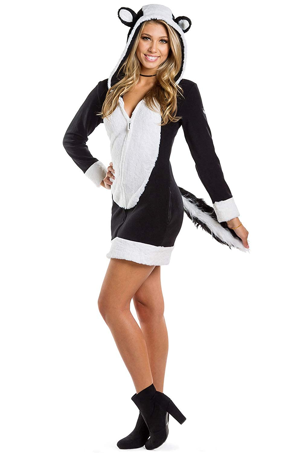 Amazon.com: Tipsy Elves Cute Skunk Costume Dress for Halloween - Sexy Skunk  Dress for Women Black: Clothing