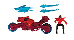 Power Rangers Sword Cycle with Shark Attack Ranger Fire