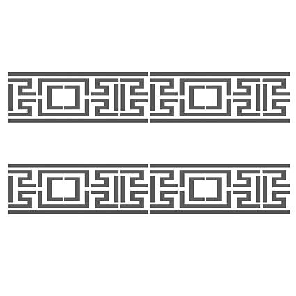 J BOUTIQUE plantillas Greek llave laterales Border #3 reutilizable ...