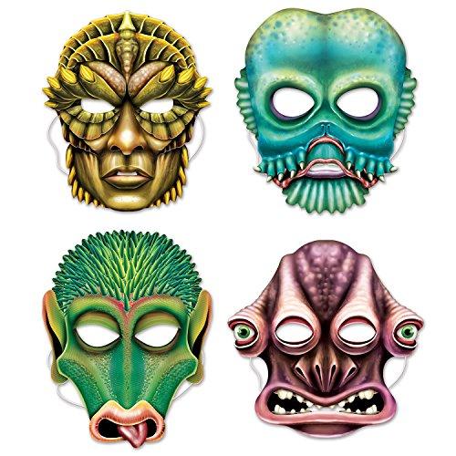 Card Stock Oversize Party Masks (Alien Masks) ()