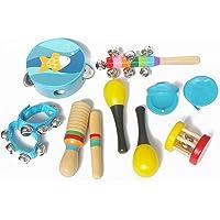 Musical Instruments Kids Toys Set 7 pcs for Kids Percussion Toy Children Rhythm mini Band Drum Bells