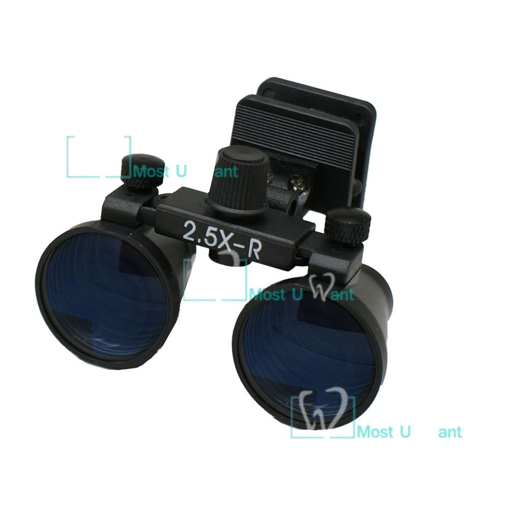 Dental Lab Surgical Medical Binocular Eye Loupe Glass 2.5x Amplification Magnifier Clip Type MUW
