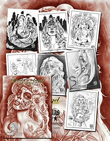Amazon.com : Devil or Angel Tattoo Design Flash Book by Steve Soto ...