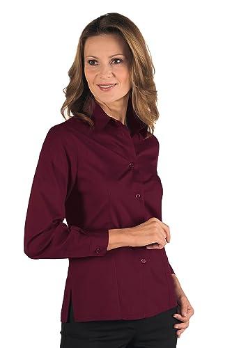 Isacco-Camisa para mujer, manga larga, diseño de Kioto, color burdeos