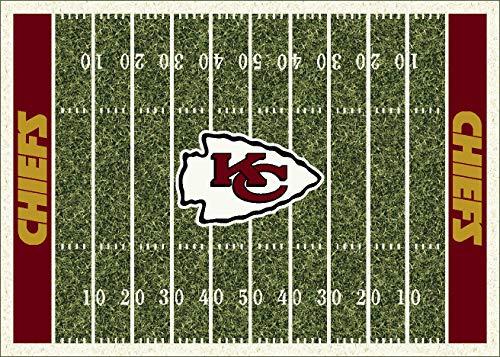 Kansas City Chiefs NFL Team Home Field Area Rug by Milliken, 5'4