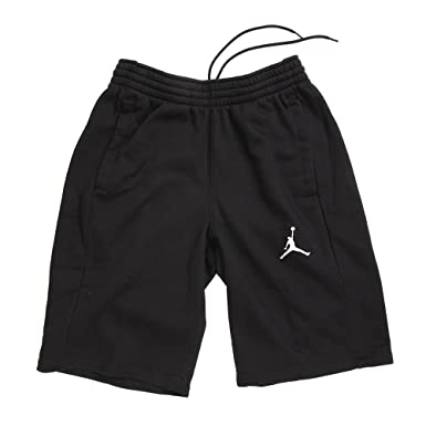 46db86d7e7c Nike Mens Jordan Flight Fleece Sweat Shorts Black/White 824020-010 Size  Small