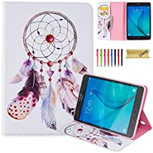 Galaxy Tab A 8.0 Case, SM-T350 Case, Dteck(TM) Premium Synthetic Leather Wallet Case with [Card Money Slots] Pretty Cute Cartoon Flip Stand Cover for Samsung Galaxy Tab A 8.0-Windbell