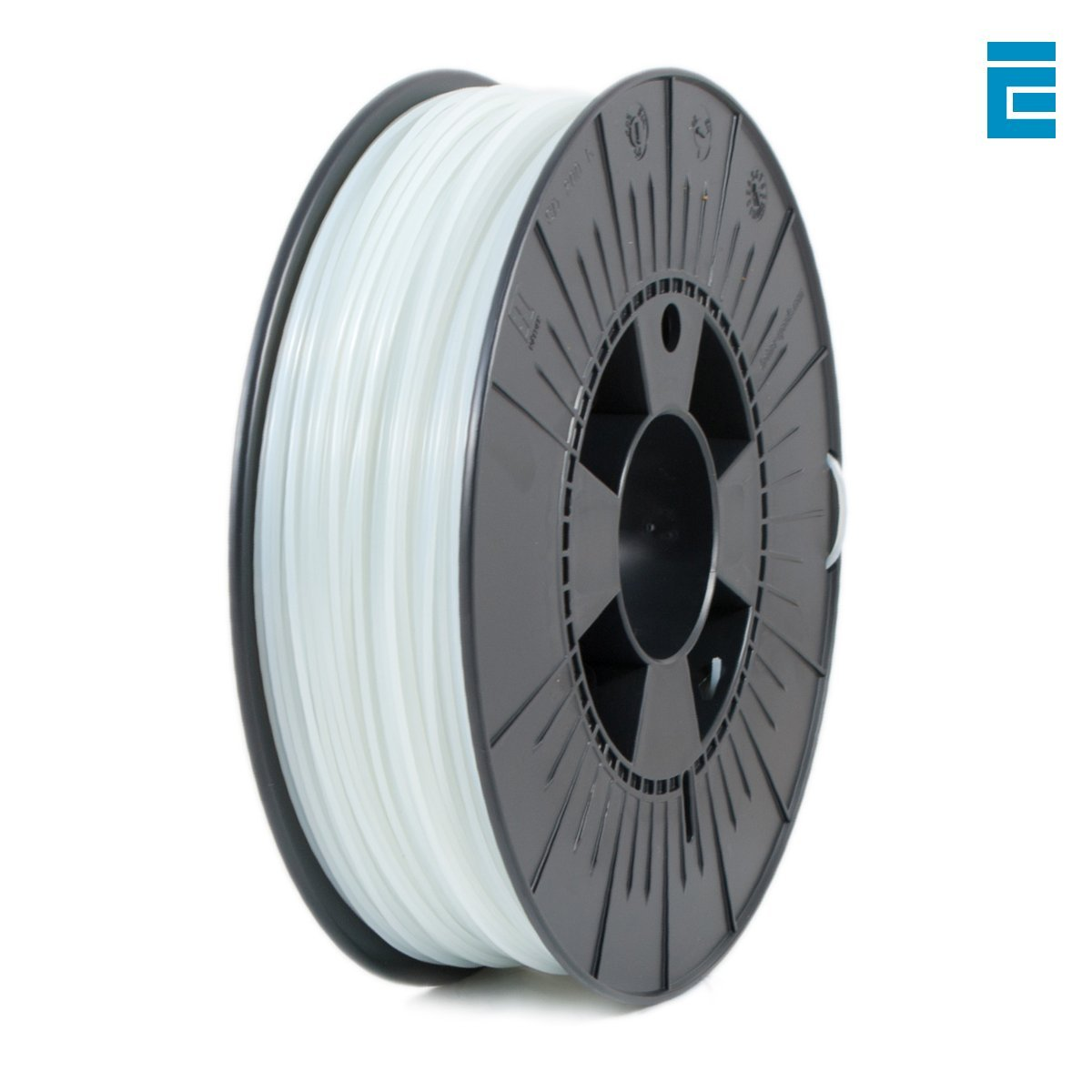 ICE FILAMENTS ICEFIL1ABS047 ABS Filament, 1.75 mm, 0.75 kg, Fluo Cunning Clear DF