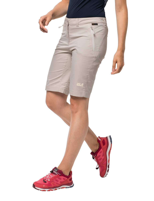 Jack Wolfskin Women's Activate Track Women's Soft Shell Hiking Shorts Pfc Free,Light Beige ,46 (U Small 35/32) by Jack Wolfskin