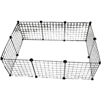 Metal Pet Playpen Animal Fence Cage Expandable DIY Wire Cage Kennel Dog Hutchfor for Small/Medium Bunny Guinea Pig…