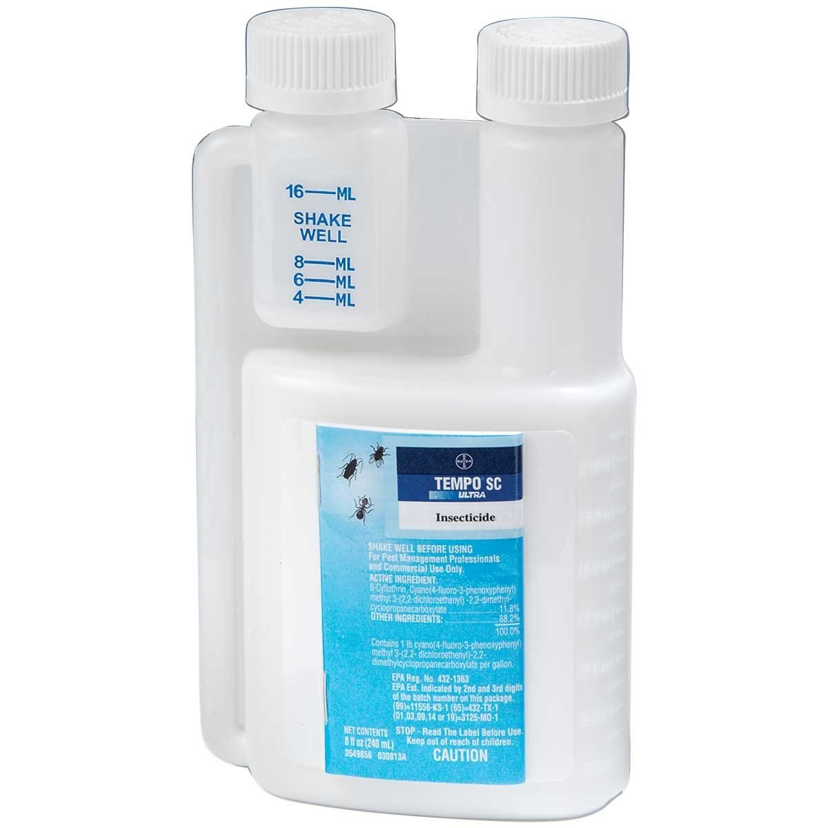 Tempo Ultra SC 240 ML (8.12 oz) Multi Use Pest Control Insecticide ~ Spiders Bedbugs Roaches Silverfish etc..