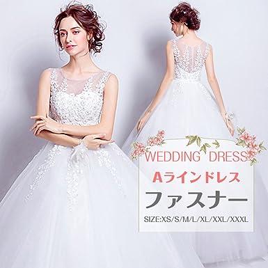 1dc2cc9c755ab レブール 花刺繍 プリンセスライン レース リボン レース ウェディングドレス 花嫁ドレス 花柄刺繍ドレス